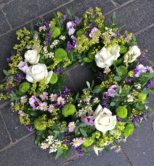 Purple and Green Wreath