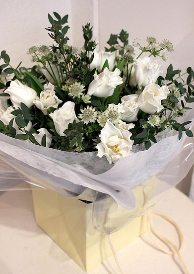 Bespoke Arrangement - Whites & Greens