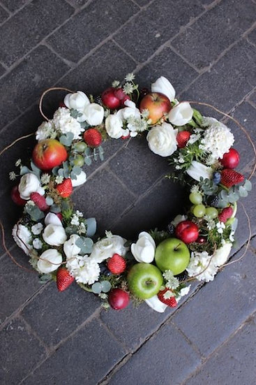 Seasonal Fruit Wreath
