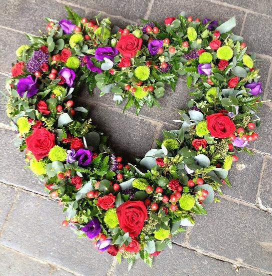 Red & Purple Open Heart