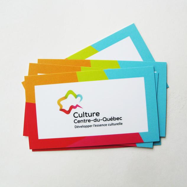 Carte d'affaire Culture Centre-du-Québec