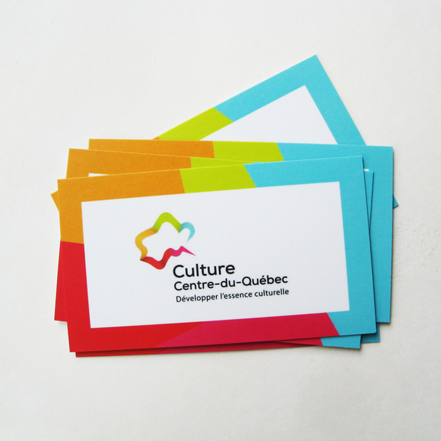 Carte d'affaire Culture Centre-du-Québec