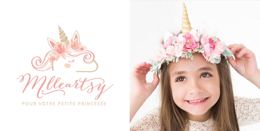 Logo MlleArtsy princesse MélanieGrenierGraphiste