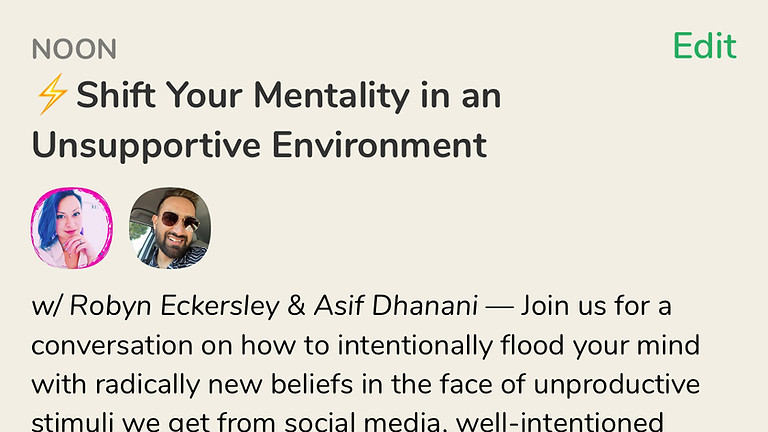 Talk: Shift Your Mentality in an Unsupportive Environment, with Asif Dhanani