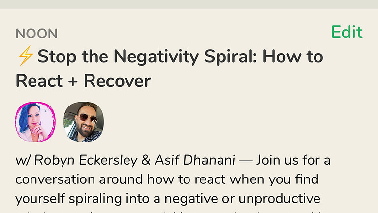 Talk: Stop the Negativity Spiral: How to React + Recover, with Asif Dhanani