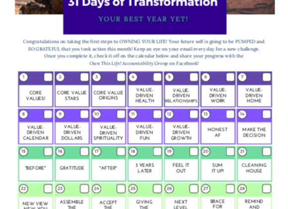 31 Days of Transformation Challenge