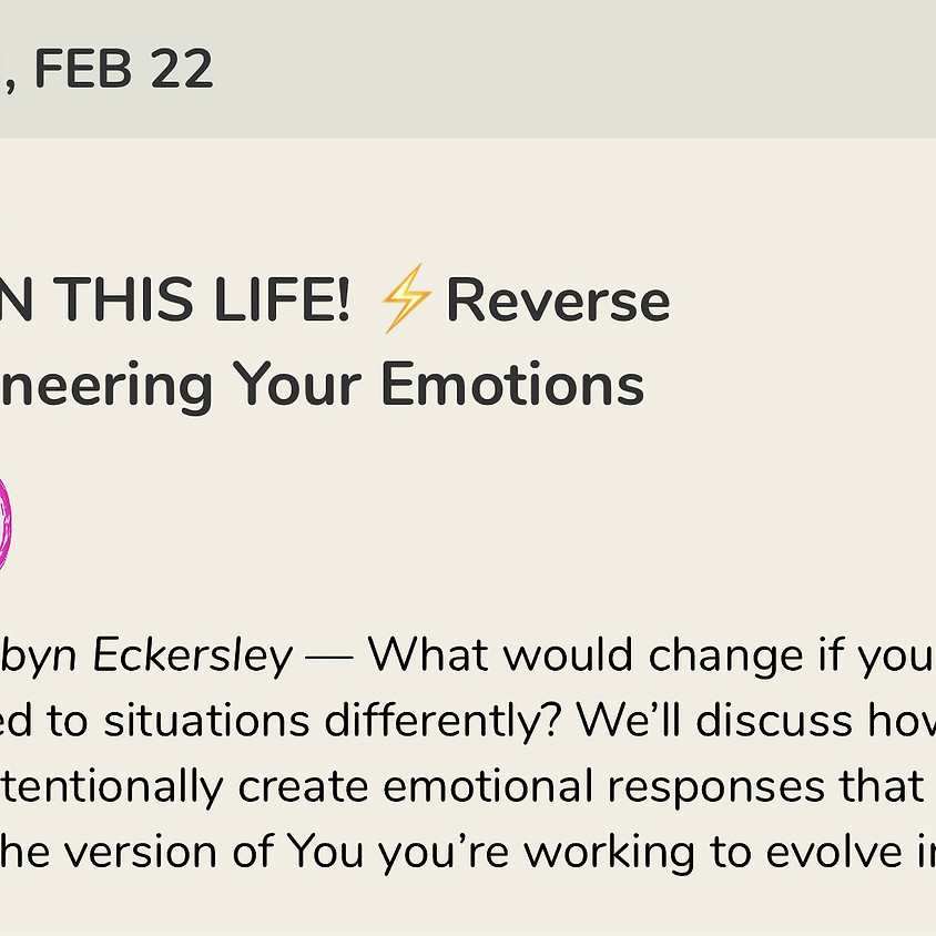 Talk: Reverse Engineering Your Emotional Responses