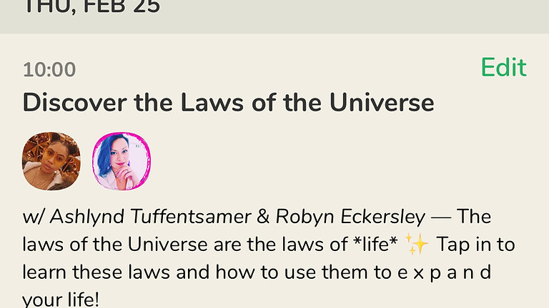 Talk: Discover the Laws of the Universe, with Ashlynd Tuffentsamer