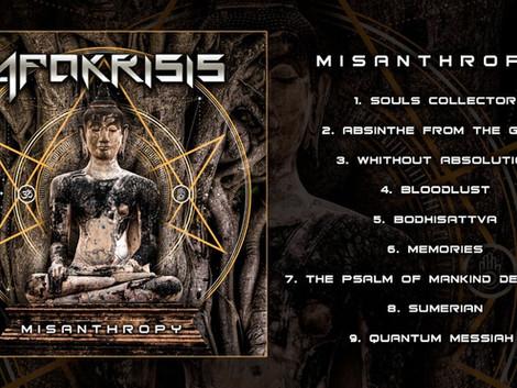Apokrisis divulga capa e tracklist de seu álbum de estreia 'Misanthropy'