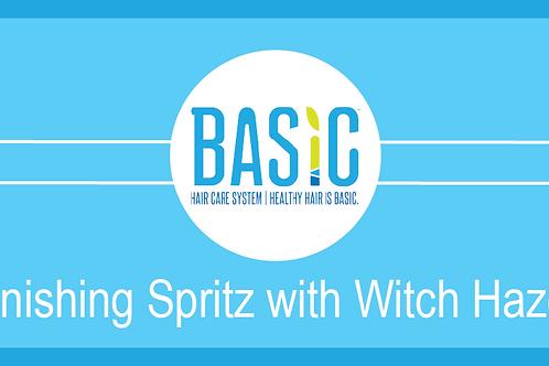 Finishing Spritz with Witch Hazel