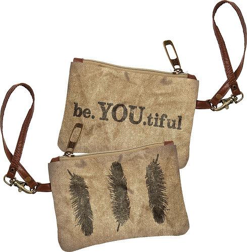 Wristlet Bag- Be You Tiful