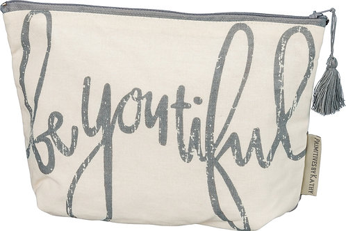 Be You Tiful Canvas Zipper Pouch