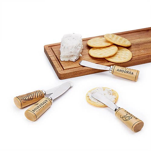 Grapevine™: Cork Handled Cheese Spreader Set by Twine®