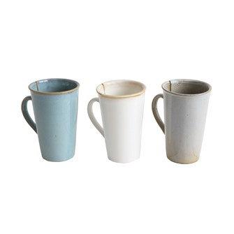 Stoneware Mug w/ Tea Bag Slot Reactive Glaze