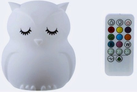 Owl Silicone Night Light w/ Remote Control
