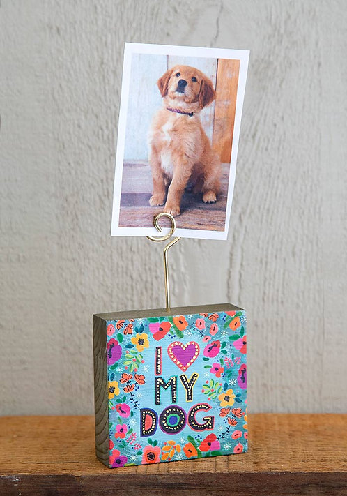 I Love My Dog Photo Holder