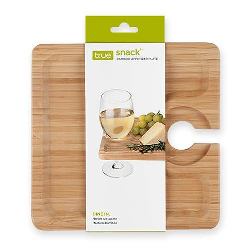Bamboo Wine Glass Appetizer Tray