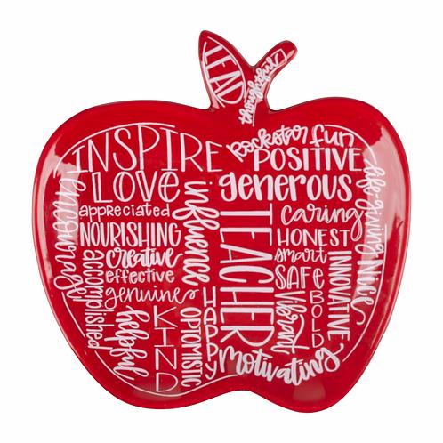 Teacher Apple Trinket Plate by Glory Haus