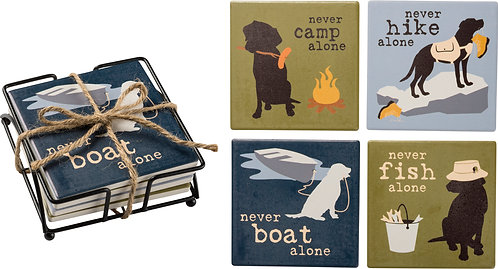 Never...... Alone Coaster Sets (2 styles to choose from)