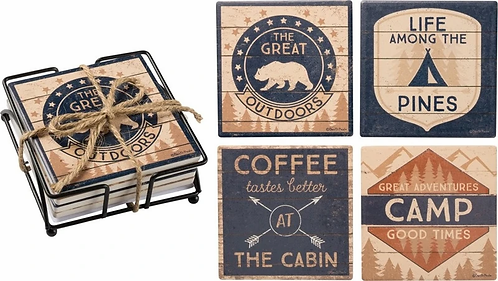 Camping/The Great Outdoor Coaster Set