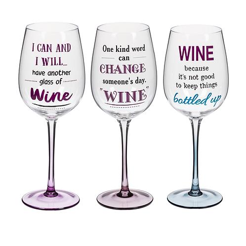Humor Wine Glasses Stemmed (Glass)
