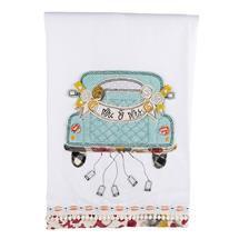MR & MRS WEDDING CAR TEA TOWEL
