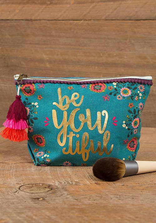 Natural Life Canvas Cosmetic Bags