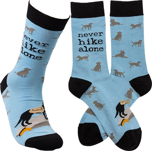 Never..... Alone Socks (three styles to choose from)