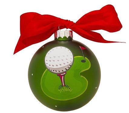 PolarX Glass Ball Ornament: Golf