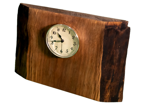 Live Edge Wood Clock