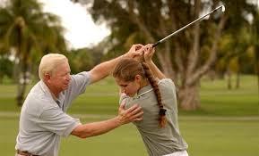 Sports coach for golfer athlete