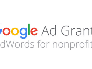 Google Ad Grants: grazie del premio.