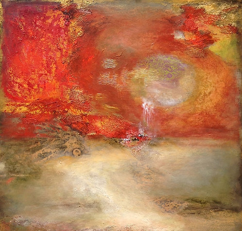 """In the Beginning I 30"""" x 30"""""""