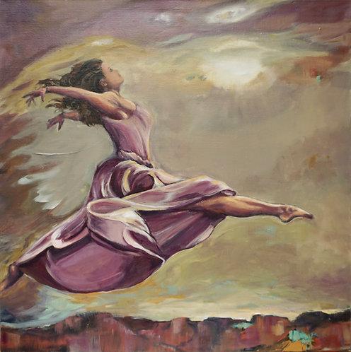 """Leap of Faith l 36"""" x 36"""""""