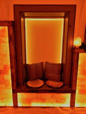 Salzgrotte LaSalis : Sitzbank