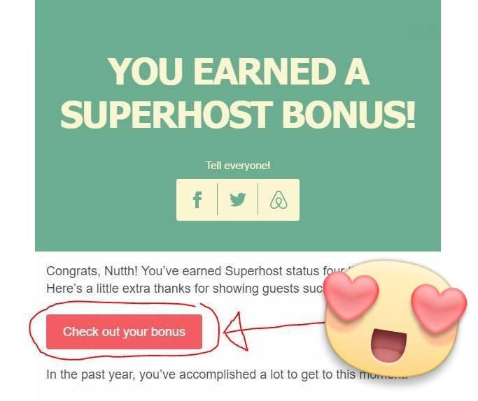 Superhost Bonus