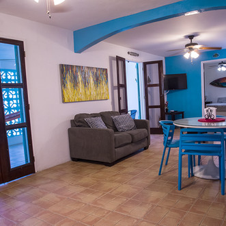 Large living area in the Surf House