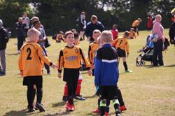 Mini soccer action