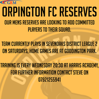 Reserves looking for players