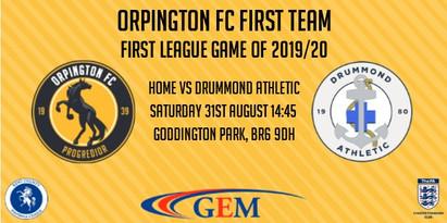First Team: First league match of 2019/20