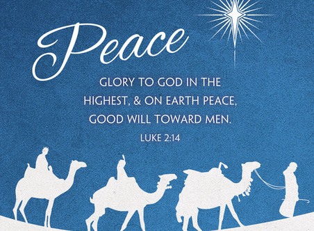 Advent Message:  Peace