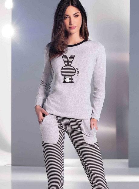 """""""Rabbit"""", Lang-Arm Pyjama"""