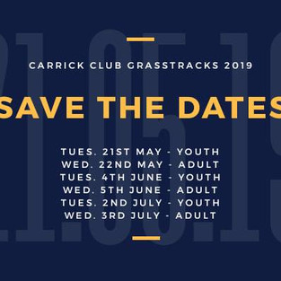 CARRICK GRASSTRACK DATES 2019