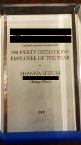 Employee of the Year Award