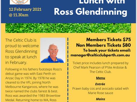 Ross Glendinning Lunch - POSTPONED - NEW DATE COMING SOON ...