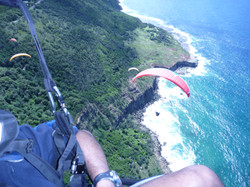 Parasailing off Bald Hill