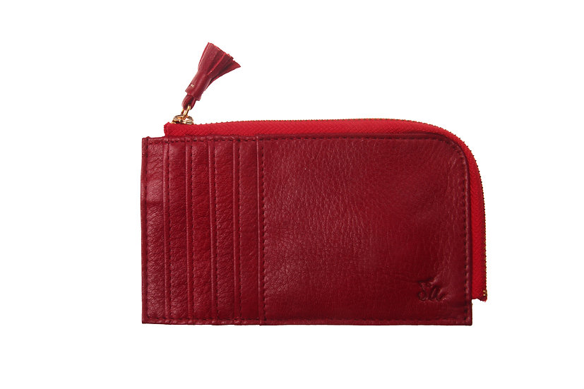 Peyton A1007 Card Case with Zip Pocket
