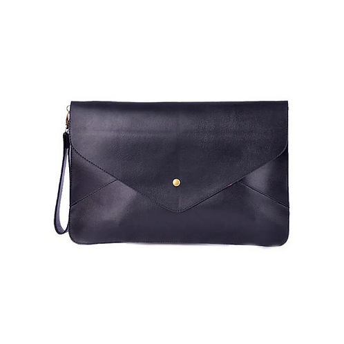 A4 Envelope Clutch - Black
