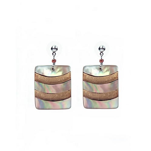 Square Bambooti Earrings - Natural