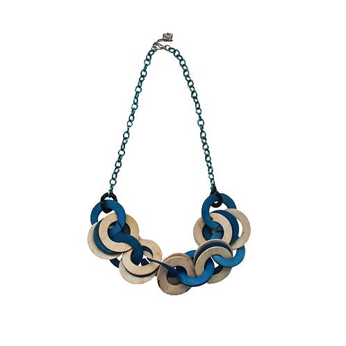 Blue Cocoloco Chain Necklace